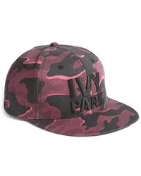 Ivy Park - Camo Logo Baseball Cap - Burgundy - Lyst
