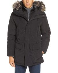 Michael kors Faux Fur Trim Down & Feather Fill Parka in Black for ...