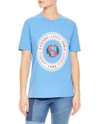 Sandro - Embroidered Graphic Tee - Lyst