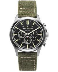 Jack Mason Brand   Field Chronograph Canvas Strap Watch   Lyst