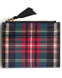 J.Crew | Small Stewart Plaid Italian Leather Zip Wallet | Lyst