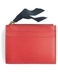 J.Crew | Small Leather Zip Wallet | Lyst