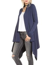 Love By Design - Two-tone Open Front Cardigan - Lyst