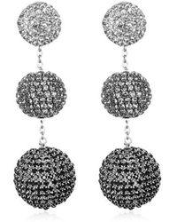 Suzanna Dai - Rhinestone Gumball Drop Earrings - Lyst