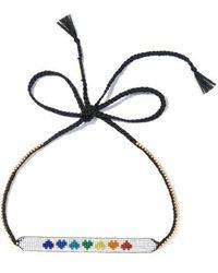 Venessa Arizaga - Rainbow Hearts Necklace - Lyst