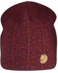 Fjallraven - Frost Wool Beanie - Burgundy - Lyst