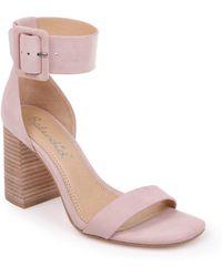 Splendid - Women's Siri Striped Chunky Heel Sandals - Lyst