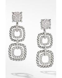 David Yurman - Chatelaine Full Pave Triple Drop Earrings - Lyst