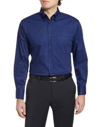 Nordstrom Traditional Fit Non-iron Dress Shirt - Blue