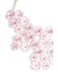 Serefina - Cherry Blossom Statement Necklace - Lyst