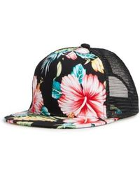 Phase 3 - Floral Print Trucker Hat - Lyst