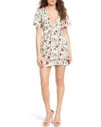 Stone Cold Fox Venice Silk Fit & Flare Dress - Multicolour
