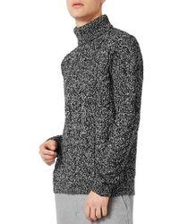 TOPMAN - Textured Turtleneck Sweater - Lyst
