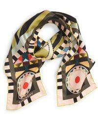 Givenchy Egyptian Wings Skinny Scarf - Multicolour