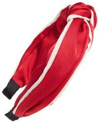 Cara Knot Headband - Red
