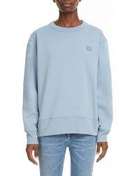 Acne Studios Fairview Face Sweatshirt - Blue