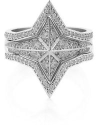 Meadowlark | Set Of 3 Diamond Pave Star Rings (nordstrom Exclusive) | Lyst