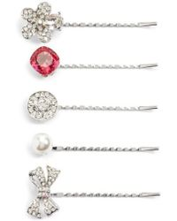 Cara | Embellished 5-pack Bobby Pins, Metallic | Lyst