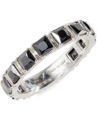 Armenta Hematite Stack Ring - Metallic