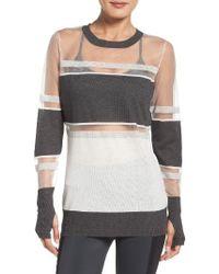 Blanc and Noir - Vision Mesh Sweatshirt - Lyst
