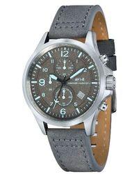 AVI-8 - Hawker Harrier Ii Chronograph Leather Strap Watch - Lyst