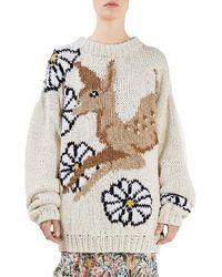 Topshop Unique - Lindbergh Intarsia Sweater - Lyst