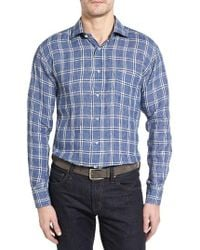 Robert Talbott Estate Classic Fit Linen Sport Shirt - Blue