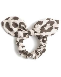J.Crew | Lana Leopard Print Bow Hair Tie | Lyst