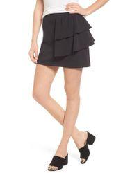 Hinge Ruffle Miniskirt