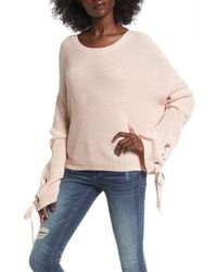 Love By Design - Grommet Sleeve Pullover Sweater  - Lyst