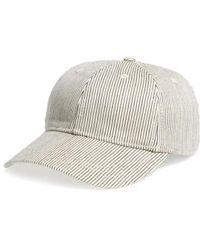 Madewell - Stripe Baseball Cap - Lyst