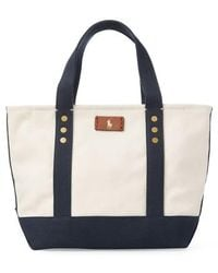 Polo Ralph Lauren - Small Pony Canvas Tote - - Lyst