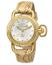 Franck Muller - Roberto Cavalli By Franck Muller Snake Leather Strap Watch - Lyst