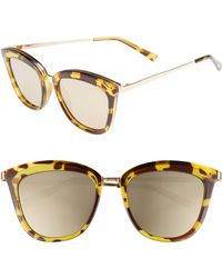 78d1fa555ea5 Le Specs - Caliente 53mm Cat Eye Sunglasses - Syrup Tort - Lyst