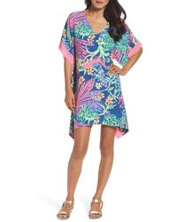 Lilly Pulitzer - Lilly Pulitzer Julie Silk Caftan Dress - Lyst