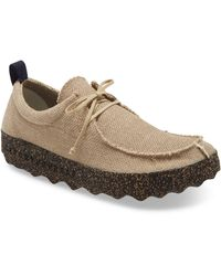 Fly London Chat Moc Toe Derby - Natural
