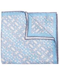 Hook + Albert - Batik Patterned Silk Pocket Square - Lyst