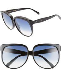 Céline - 63mm OverShiny Black/ Blue Gradient - Lyst