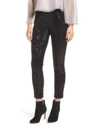 Cupcakes And Cashmere - Glendora Sequin Crop Pants - Lyst