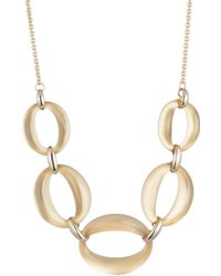 Alexis Bittar Essentials Large Lucite Link Necklace - Metallic