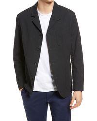 Rag & Bone Parker Cotton Blazer Classic Fit Blazer - Black