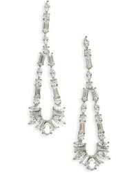 Nadri - Fanfare Cubic Zirconia Drop Earrings - Lyst