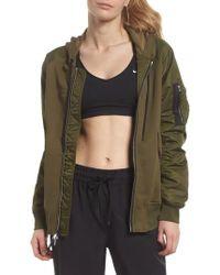 Nike - Lab Women's Mixed Media Bomber Jacket - Lyst