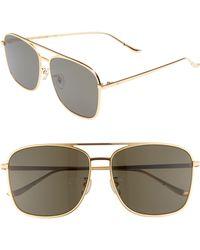 a619fc7fbd Blanc   Eclare - Geneva Large 60mm Polarized Metal Aviator Sunglasses - -  Lyst