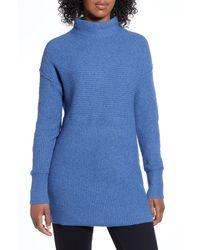 Caslon Caslon Ribbed Tunic Sweater - Blue