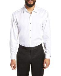 BOSS - Jasper Slim Fit Tuxedo Shirt - Lyst