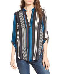 Nordstrom - Roll Tab Sleeve Woven Shirt - Lyst
