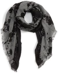 The Kooples - Houndstooth Wool Blend Scarf - Lyst