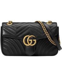 Gucci - GG Marmont Medium Matelass�� Shoulder Bag - Lyst