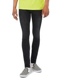 TOPMAN - Super Spray-on Skinny Fit Jeans - Lyst